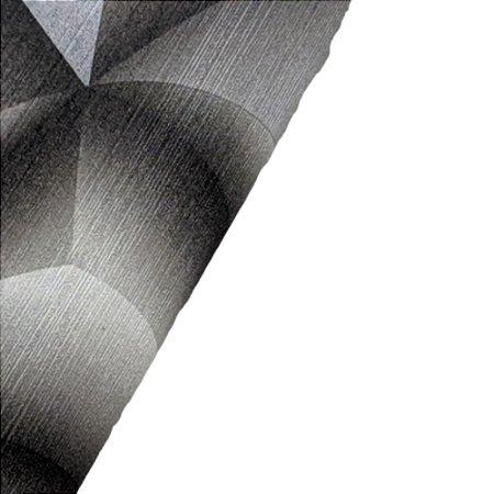 Papel de Parede 3D Geométrico Tons Preto Rolo de 53x1000cm