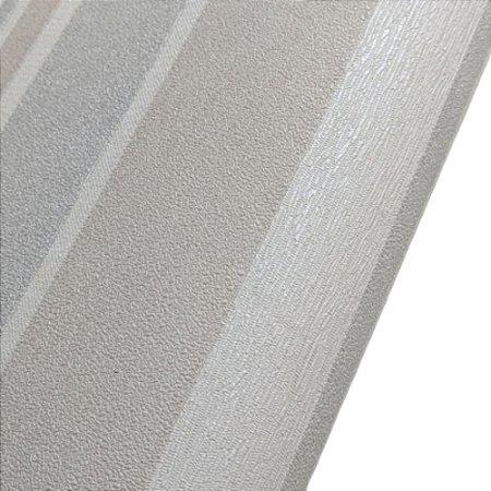 Papel de Parede Listrado Neutro Rolo de 53x1000cm