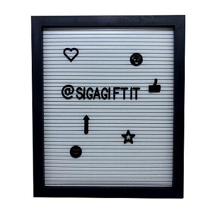 Quadro Decorativo - Letter Board Preto M