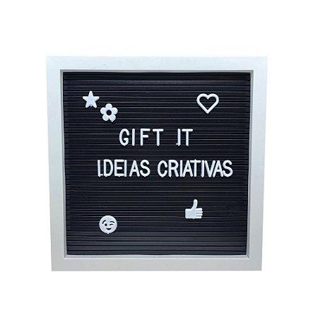 Quadro Decorativo - Letter Board Branco P
