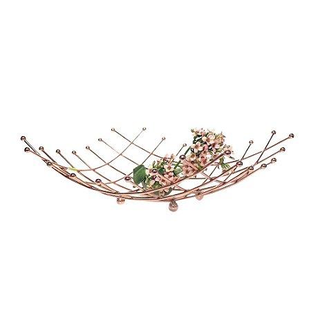 Fruteira Decorativa Quadrada - Aramado Rosé