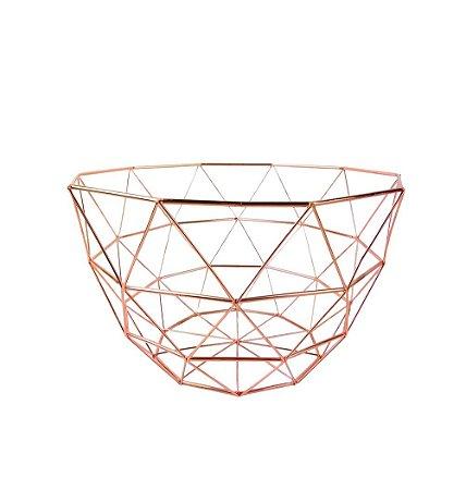 Fruteira Decorativa Arredondada - Aramada Rosé