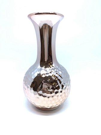 Vaso Decorativo Metalizado - Rosé M