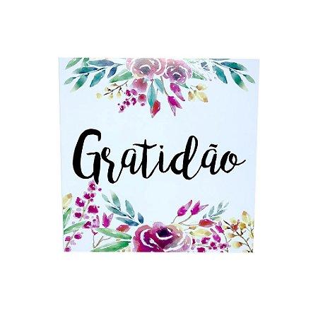 Placa Decorativa - Gratidão