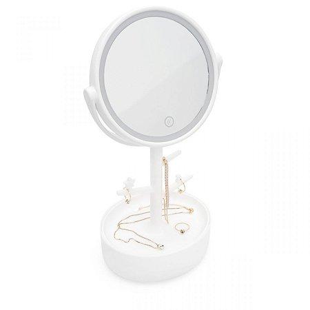 Espelho Porta Jóias com LED