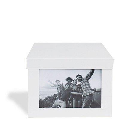 Caixa Porta Retrato Risca Aí - Branca