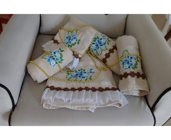 Kit Toaletes Blue Floral