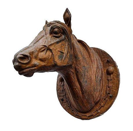 Cabeça de Cavalo Jockey Boca Fechada - Ferro Fundido