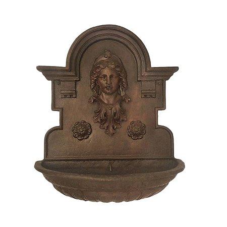 Fonte Chafariz de Parede Cara de Índia Em Ferro Fundido