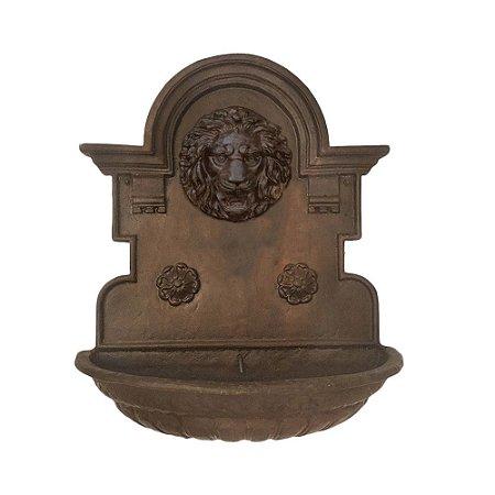 Fonte Chafariz de Parede Cara de Leão Em Ferro Fundido