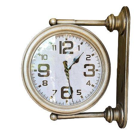 Relógio Met de Parede Dupla face com Suporte 46x32x12