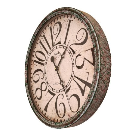 Relógio De Parede Envelhecido - 49cm Diâmetro - Paris Hotel
