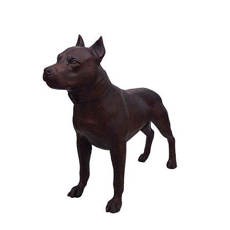 Escultura De Cachorro Pitbull - Ferro Fundido