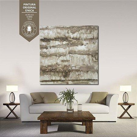 Quadro Abstrato Tom Pastel 1,50m X 1,50m - Tela Original