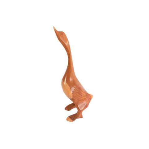 Escultura de Ganso Em Madeira de Demolição - Pequeno