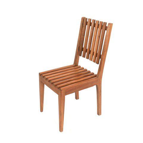 Cadeira Em Madeira De Demolição Em Ripas
