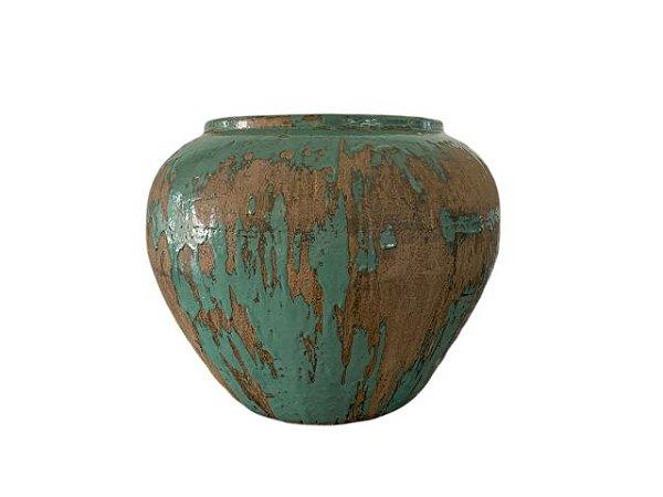 Vaso de Cerâmica Vietnamita Verde Grande