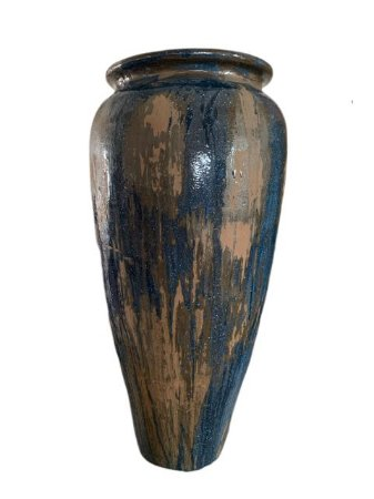 Vaso de Cerâmica Vietnamita Azul Petróleo - Grande