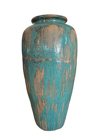 Vaso de Cerâmica Vietnamita Azul Claro - Grande