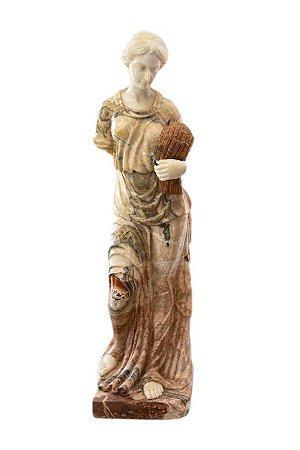 Escultura Estátua Importada em Pedra e Pó de Mármore