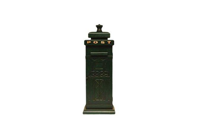 Porta Treco Estilo Caixa de Correio Antiga de Madeira