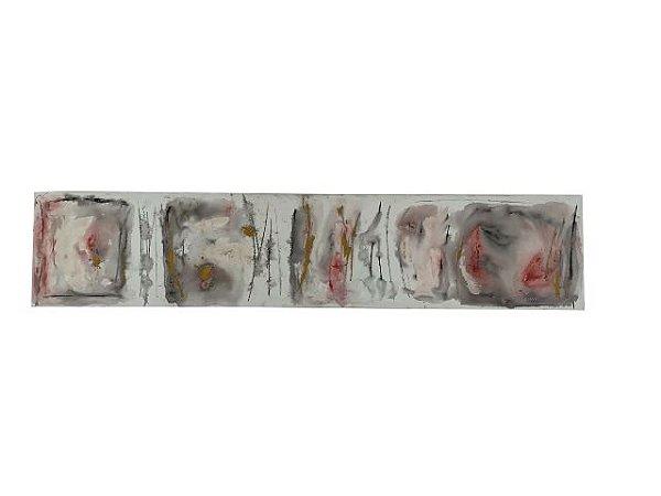 Quadro Abstrato Colorido 0,50m X 2,30m - Acrílico Sobre Tela