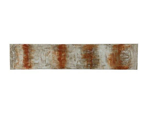 Quadro Abstrato Colorido 0,50m X 2,50m - Acrílico Sobre Tela