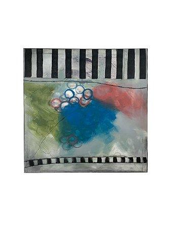 Quadro Abstrato Colorido 1,20m X 1,20m - Acrílico Sobre Tela