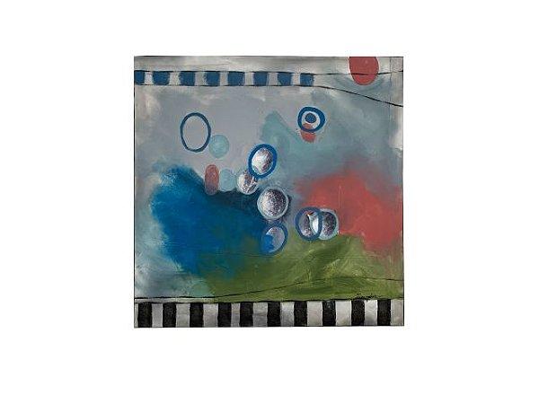 Quadro Abstrato Círculos 1,20m X 1,20m - Acrílico Sobre Tela