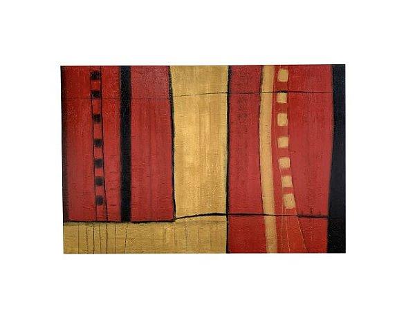 Quadro Abstrato L 1,00m X 1,50m - Acrílico Sobre Tela