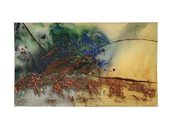 Quadro Abstrato Texturizado 0,70m X 1,20m - Tela em Alto Relevo