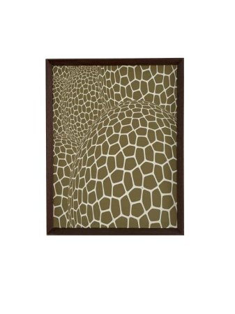 Quadro Abstrato com Moldura 0,70m X 0,57m - Tela Impressa