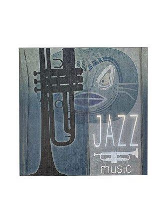 Quadro Jazz Music 0,50m X 0,50m - Tela Impressa