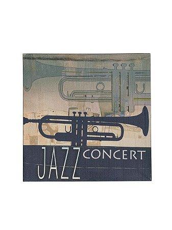 Quadro Jazz Concert 0,50m X 0,50m - Tela Impressa