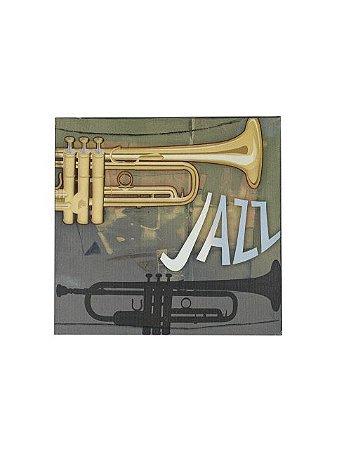 Quadro Jazz 0,50m X 0,50m - Tela Impressa