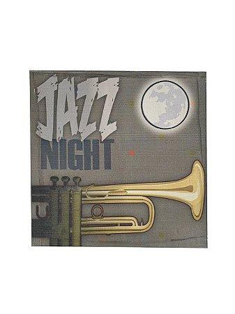 Quadro Jazz Night 0,50m X 0,50m - Tela Impressa