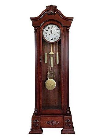 Relógio Pêndulo Carrilhão Novo a Corda