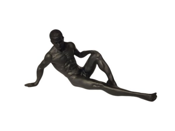 Escultura Artística Homem Deitado em Resina