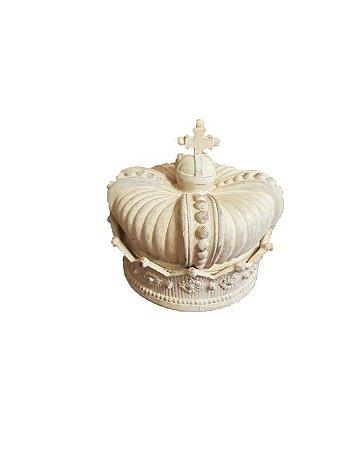 Porta Objetos Coroa Real Clara em Resina