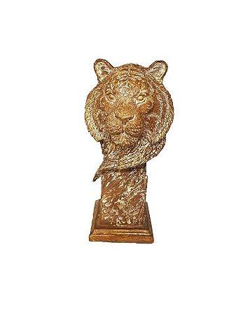 Escultura Cabeça de Leão em Resina