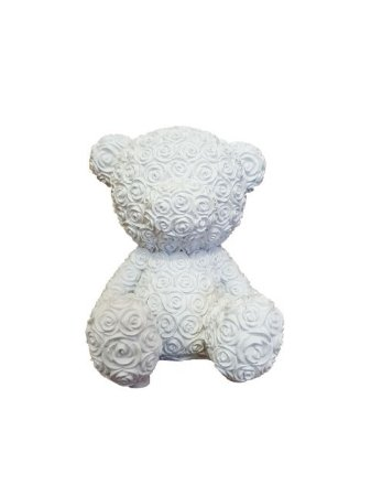 Ursinho de Rosas Sentado em Resina