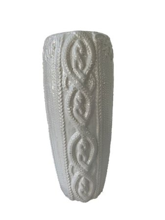 Vaso Decorativo em Cerâmica Branco Alto