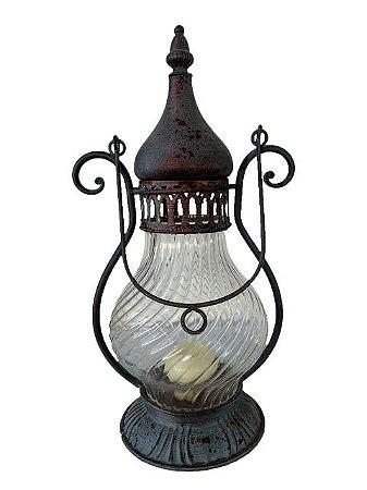 Lanterna de Mesa a Vela Decorativa
