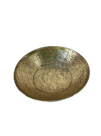 Bacia Centro de Mesa Decorativa Dourada em Metal