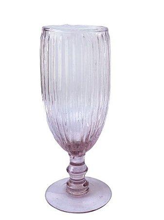 Taça Decorativa de Vidro Rosa