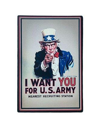 Placa Decorativa I Want You