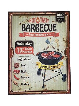 Placa Decorativa Barbecue