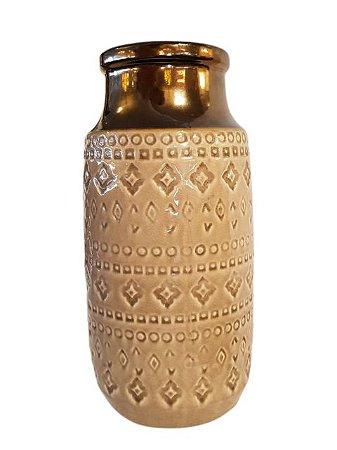 Jarro Decorativo em Porcelana Ouro Velho
