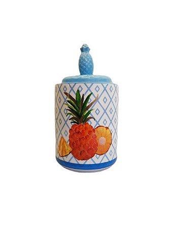 Pote Decorativo de Cerâmica Pineapple Grande
