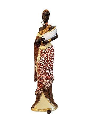 Escultura Mulher com Bebê em Resina